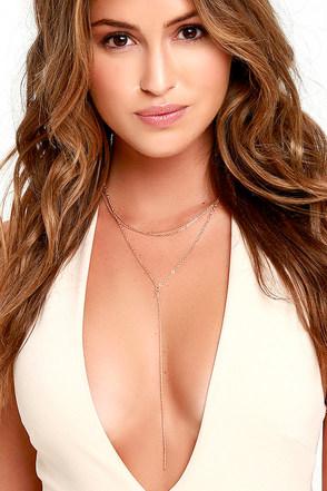 Sleek Inspirations Gold Layered Necklace at Lulus.com!