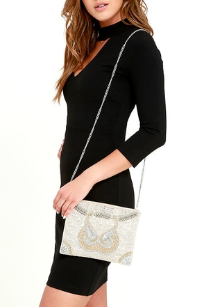 Star Shine Cream Beaded Clutch at Lulus.com!