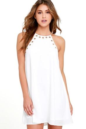 Amara Ivory Swing Dress at Lulus.com!