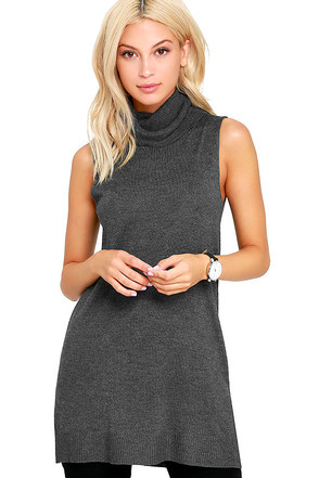 Olive & Oak In the Night Black Turtleneck Tunic Top at Lulus.com!
