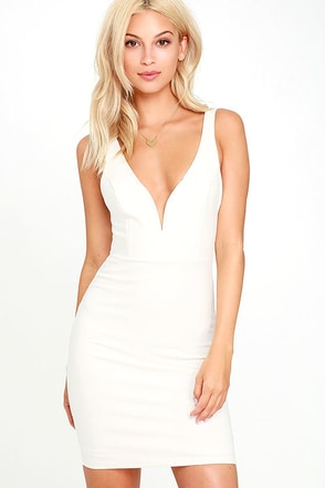 Perfect Pick White Bodycon Dress at Lulus.com!