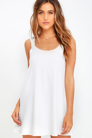 Fresh Heir Ivory Beaded Shift Dress at Lulus.com!