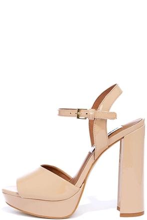 Steve Madden Kierra Black Patent Leather Platform Heels at Lulus.com!