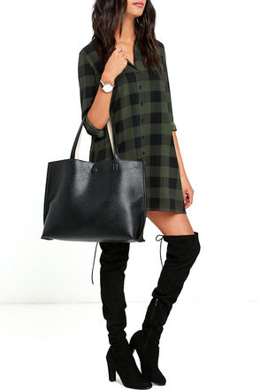 Do Your Thing Tan and Black Reversible Tote at Lulus.com!