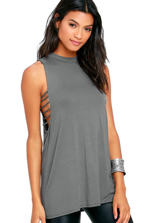 Lucy Love Moon Hawk Grey Tunic Top at Lulus.com!