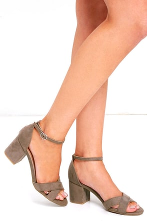 Chic Solution Light Taupe Ankle Strap Heels at Lulus.com!