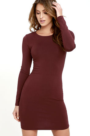 Comeback Baby Burgundy Dress at Lulus.com!