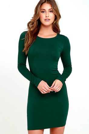 Comeback Baby Forest Green Dress at Lulus.com!