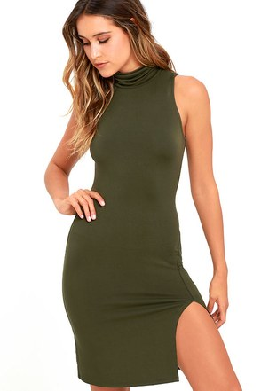 Love It Olive Green Bodycon Dress at Lulus.com!