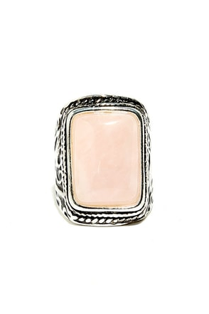 Clairvoyance Silver and Pink Ring at Lulus.com!