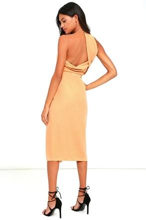 Keepsake Rescue Me Camel Midi Dress at Lulus.com!