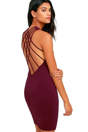 Forever Fierce Burgundy Bodycon Dress at Lulus.com!