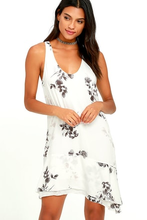 Gentle Fawn Ariel Ivory Floral Print Dress at Lulus.com!