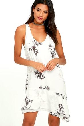 Gentle Fawn Ariel Ivory Floral Print Dress at Lulus.com!