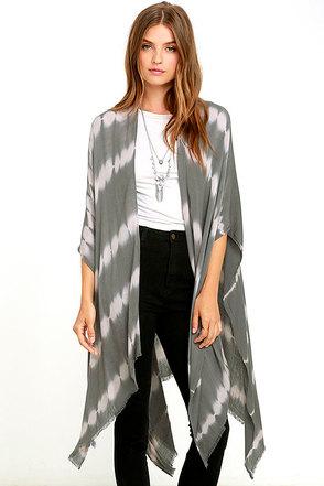 Gentle Fawn Gallery Khaki Tie-Dye Kimono Scarf at Lulus.com!