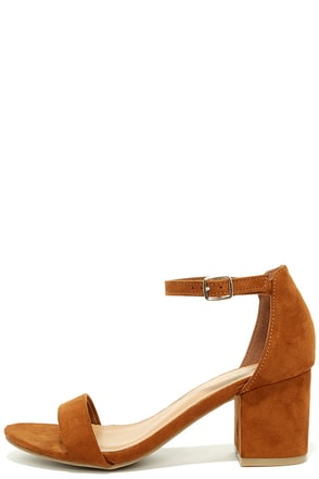 For Real Chestnut Suede Ankle Strap Heels at Lulus.com!