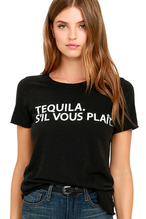 Chaser Tequila Please Black Tee at Lulus.com!