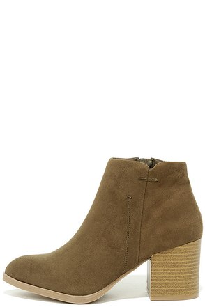 You Got It Toffee Suede Ankle Booties at Lulus.com!
