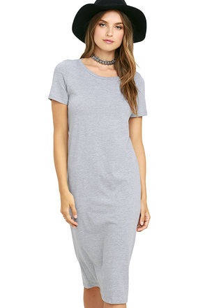 Obey Ebba Washed Black Midi Dress at Lulus.com!