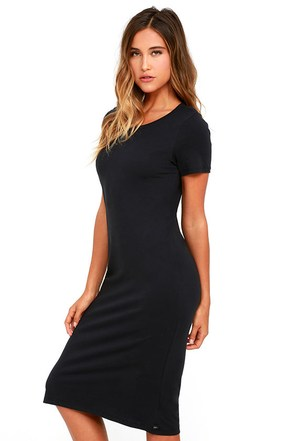 Obey Ebba Heather Grey Midi Dress at Lulus.com!