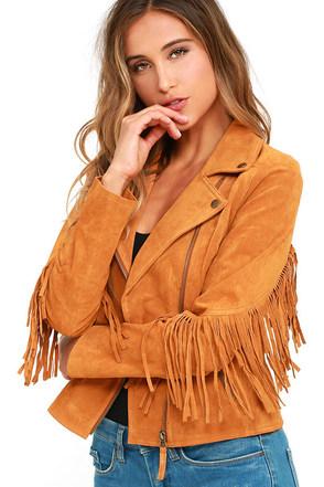 White Crow Westerner Tan Suede Leather Fringe Jacket at Lulus.com!