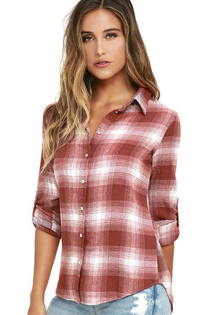 White Crow Sun Valley Blue Plaid Flannel Top at Lulus.com!