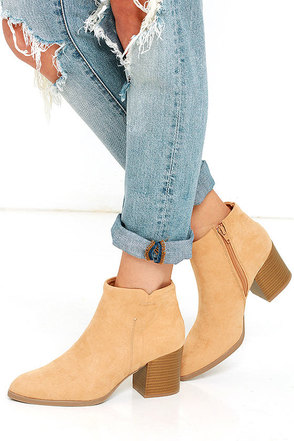 You Got It Khaki Suede Ankle Booties at Lulus.com!