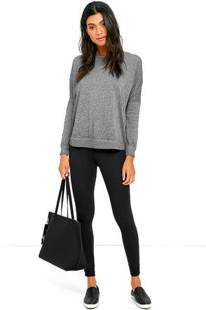 RVCA Laid Back Black Leggings at Lulus.com!