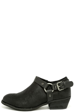 Very Volatile Haisley Black Ankle Booties at Lulus.com!