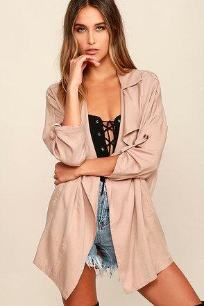 Lucky Break Blush Oversized Jacket at Lulus.com!