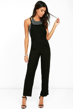 Olive & Oak Joss Black Overalls at Lulus.com!