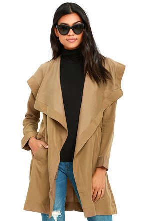 RVCA Drape Me a River Khaki Jacket at Lulus.com!
