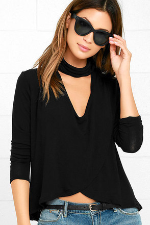 Soho Chic Dark Grey Long Sleeve Top at Lulus.com!