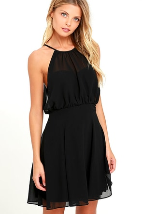 Mesmerizing Moment Forest Green Skater Dress at Lulus.com!