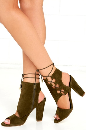 Your Destiny Black Suede Lace-Up Heels at Lulus.com!