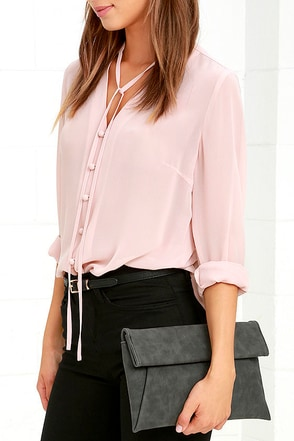 Curated Selection Blush Pink Clutch at Lulus.com!
