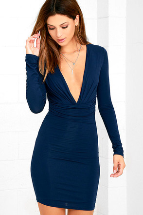 Curves Ahead Dark Green Bodycon Dress at Lulus.com!