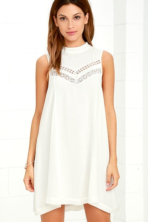 Gentle Fawn Jami White Swing Dress at Lulus.com!