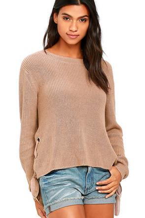 Laced in Love Slate Blue Sweater at Lulus.com!