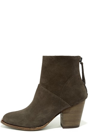 Chinese Laundry Kind Heart Suede Leather Smoke Grey Boots at Lulus.com!