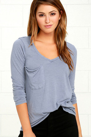 Secret Layer Heather Grey Long Sleeve Top at Lulus.com!