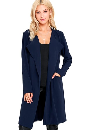 City Sleek Black Trench Coat at Lulus.com!