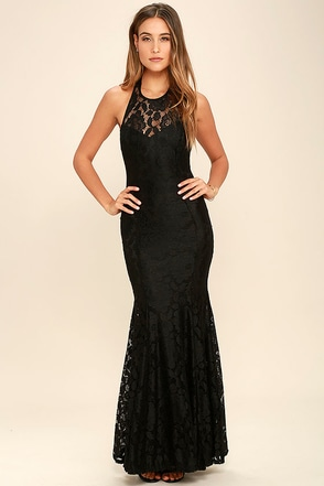 Live Forever Black Lace Maxi Dress at Lulus.com!