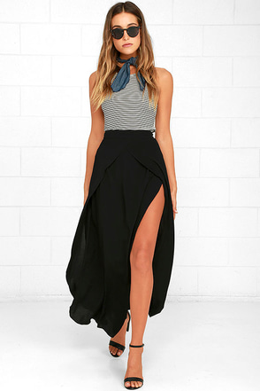 Seductress Black Maxi Skirt at Lulus.com!