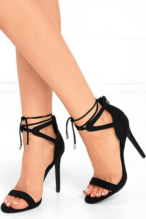 High Above Me Camel Suede Lace-Up Heels at Lulus.com!