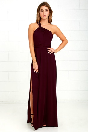 Graceful Goddess Plum Purple One Shoulder Maxi Dress at Lulus.com!