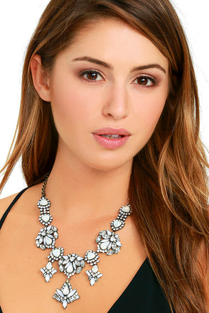 Fleur Gold and Iridescent Rhinestone Statement Necklace at Lulus.com!