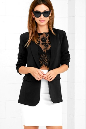 Formal and Function Black Blazer at Lulus.com!