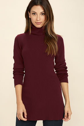 Vogue Vocation Burgundy Long Sleeve Tunic Top at Lulus.com!