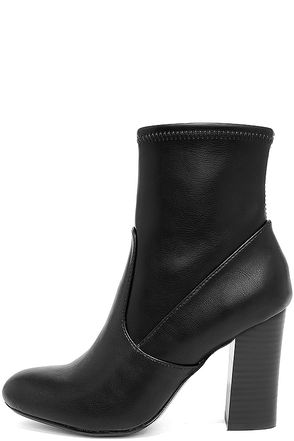 Report Liria Black High Heel Mid-Calf Boots at Lulus.com!